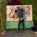 live painting circolo degli artisti Roma
